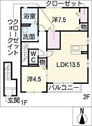 フラフィールド[2階]の間取り