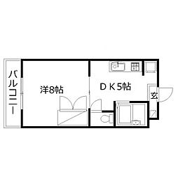 静岡県浜松市西区西山町の賃貸マンションの間取り