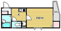 東京都福生市本町の賃貸マンションの間取り