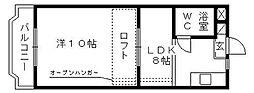 コナビック西塚I[2F号室]の間取り
