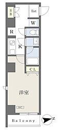 (仮)大田区大森北二丁目計画 4階1Kの間取り