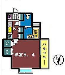 Camus FUNABASHI[501号室]の間取り