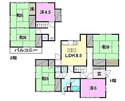 [一戸建] 愛媛県松山市余戸東2丁目 の賃貸【/】の間取り