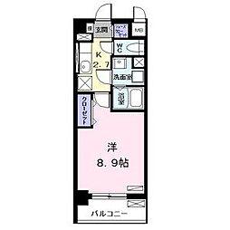 愛知県名古屋市中村区日ノ宮町1の賃貸マンションの間取り