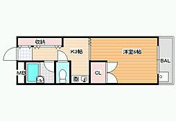 松原水道会館[5階]の間取り