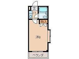 ロイヤルコーポ有本B棟[3階]の間取り