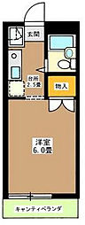 東京都渋谷区本町6丁目の賃貸アパートの間取り