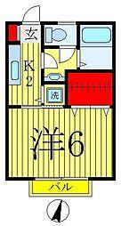 サニーハイツIII[2階]の間取り