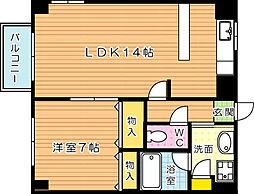 アビタシオンドゥ[4階]の間取り