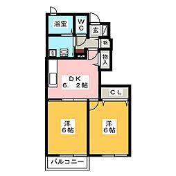 ハナミズキ A[1階]の間取り