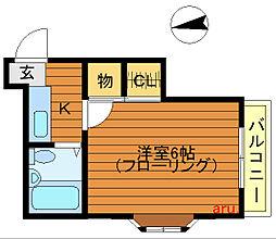 東京都武蔵野市吉祥寺東町4丁目の賃貸アパートの間取り