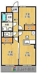 ラポールII[302号室]の間取り