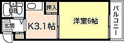 SS江波ビル[1階]の間取り