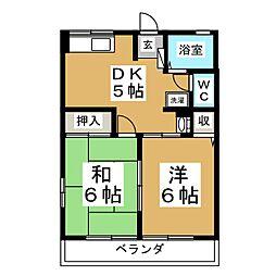 シティハイム東黒松[2階]の間取り