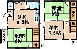 [一戸建] 広島県広島市東区戸坂桜西町 の賃貸【/】の間取り