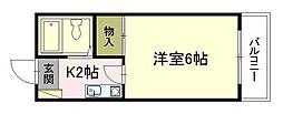 第2矢賀ハイム[2階]の間取り
