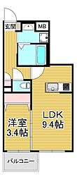 Kimie PRENDORE.R 5階1LDKの間取り