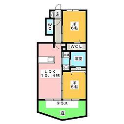 D−room赤磐 A棟[1階]の間取り