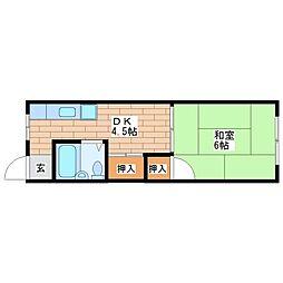 グレイスパレス(旧 平野マンション)[105号室]の間取り