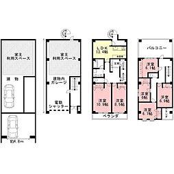 [一戸建] 岐阜県岐阜市加納柳町 の賃貸【/】の間取り