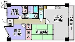 ルノン和泉中央[504号室]の間取り