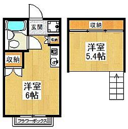 東京都狛江市中和泉1丁目の賃貸アパートの間取り