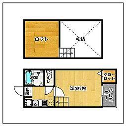 Lソワール田島[105号室]の間取り