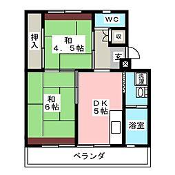 ビレッジハウス長島第二2号棟[2階]の間取り