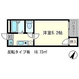 シェモア桂坂[1階]の間取り
