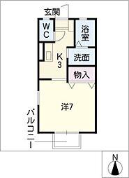 メゾンプリシェール[2階]の間取り