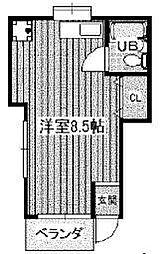 千葉県市川市入船の賃貸アパートの間取り