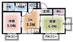 コスモ柳町マンション[302号室]の間取り