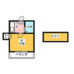 パレス柴田[1階]の間取り