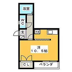 オーエス・コーポ蔵前[3階]の間取り