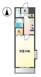 愛知県名古屋市西区貴生町の賃貸マンションの間取り