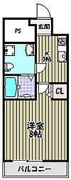 ラシーヌ宿院[11階]の間取り