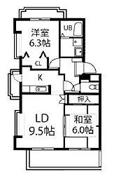 ファミールHIRO[3階]の間取り