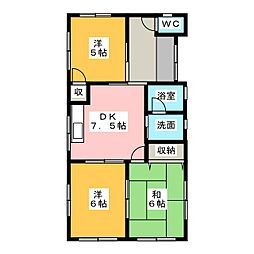 [一戸建] 静岡県牧之原市勝俣 の賃貸【/】の間取り