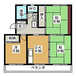 コートビラ[3階]の間取り