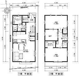 東急大井町線 下神明駅 徒歩7分の賃貸一戸建て 1階2SLDKの間取り