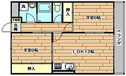 アムールミナセ[2階]の間取り