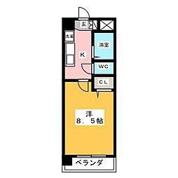 グランディール新福寺[3階]の間取り