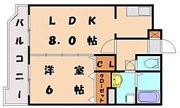 ヴィンテージ唐原I[1階]の間取り