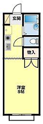 愛知県豊田市元宮町1丁目の賃貸アパートの間取り