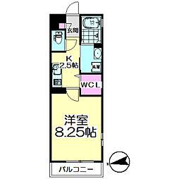 Residence KamiyaII[205号室]の間取り
