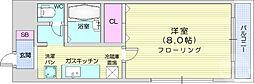 仙台市地下鉄東西線 川内駅 徒歩23分の賃貸マンション 2階1Kの間取り
