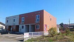 新潟県胎内市あかね町の賃貸アパートの外観