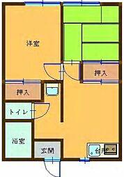中島ハイツ[201号室]の間取り