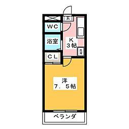 メゾンブローニュ 6[3階]の間取り