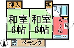 宮崎コーポ[201号室]の間取り